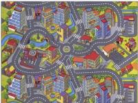 Bil Legetæppe SMART CITY 140 x 200 cm