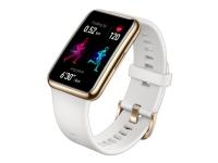 Huawei Watch Fit - Elegance - smart ur med rem - silikone - glaseret hvid - håndledsstørrelse: 110-190 mm - display 1.64 - 4 GB - Bluetooth - 21 g