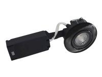 Nordtronic Low Profile - Forsænket lampe - LED - total: 6 W - klasse A+ - 2700 K - rund - sort