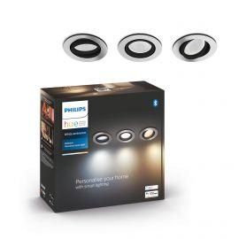 Philips Hue Milliskin Hue recessed R. aluminium 3x5W - 929003045101
