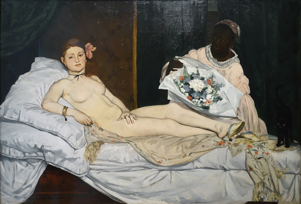 Édouard Manet, Olympia, 1863, oil on canvas, 130 x 190 cm (Musée d'Orsay, Paris)