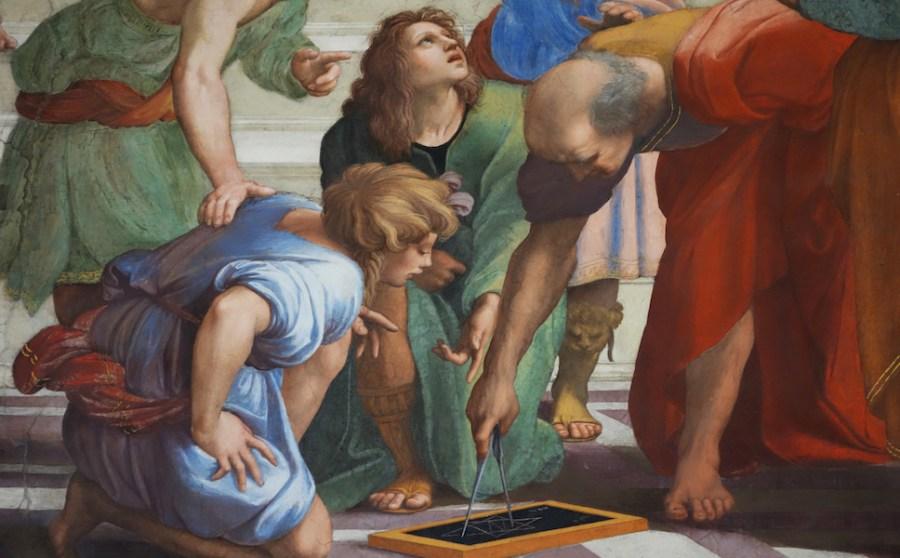 Raphael, Euclid and His Students Raphael, School of Athens, fresco, 1509-1511 (Stanza della Segnatura, Papal Palace, Vatican)