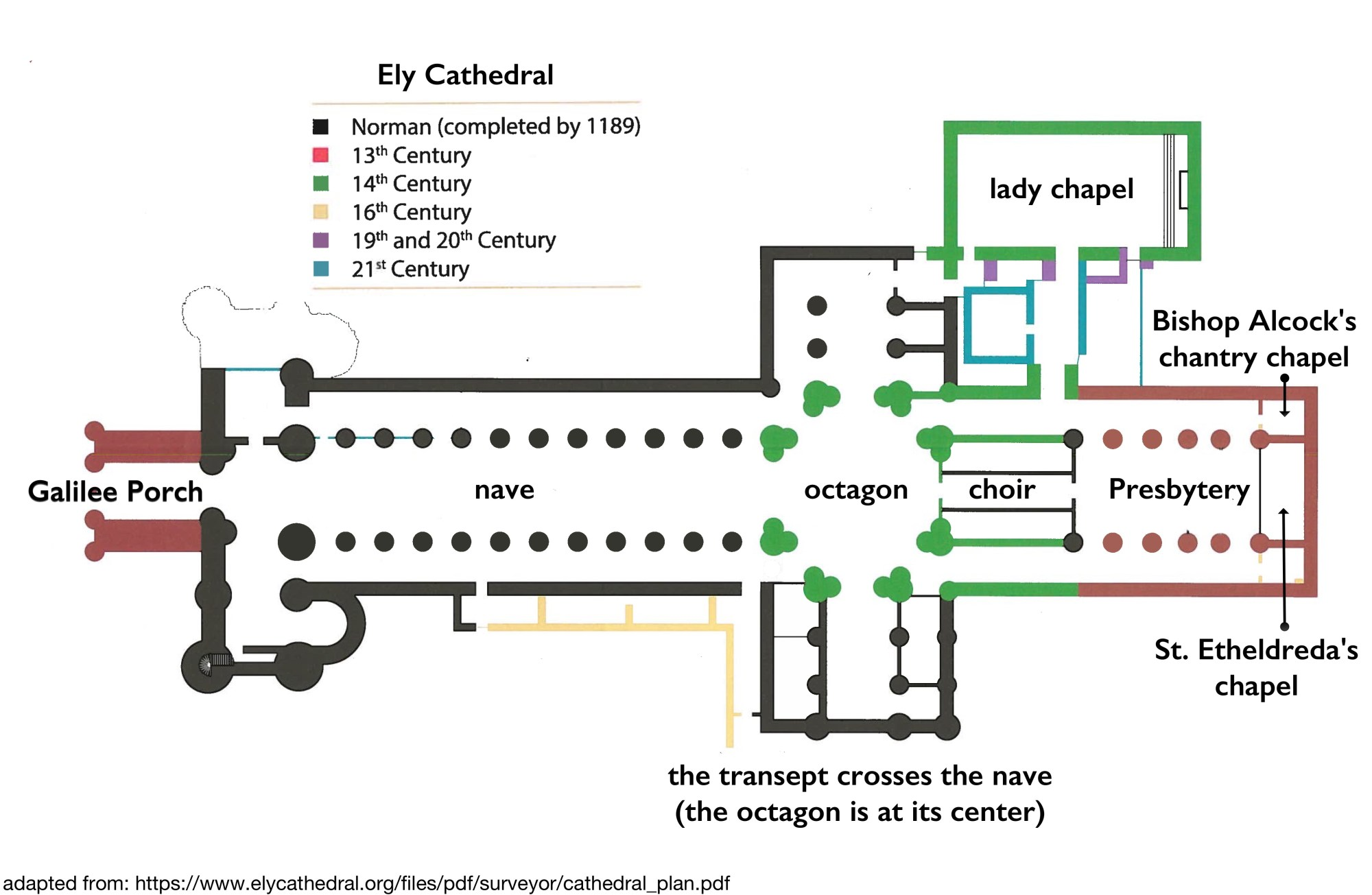 hight resolution of ely cathedral plan