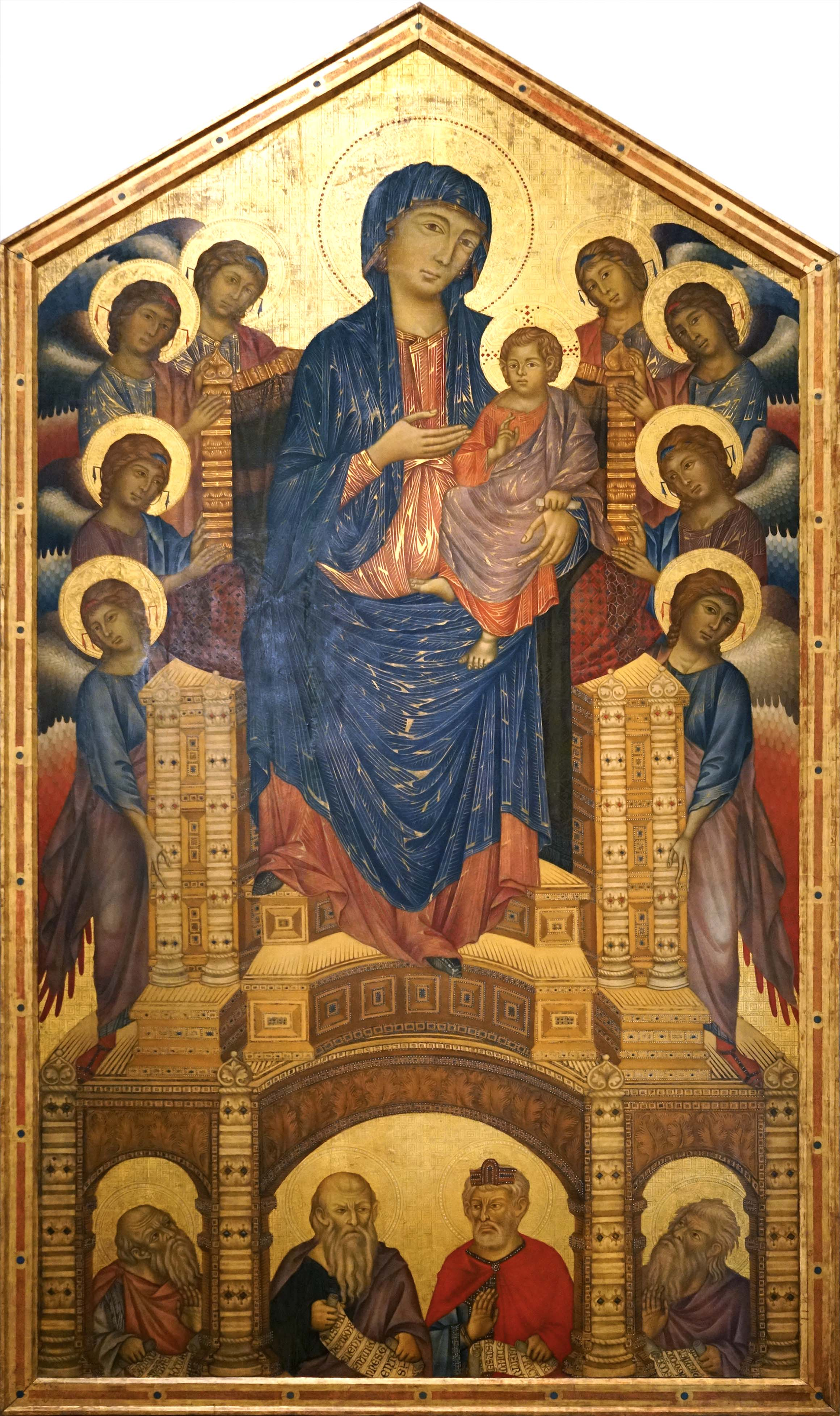 Cimabue Madonna Enthroned With Angels And Prophets : cimabue, madonna, enthroned, angels, prophets, Cimabue,, Virgin, Child, Enthroned,, Prophets, (Santa, Trinità, Maestà), Smarthistory