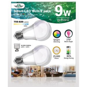 2 Edison E27 9W Smart Rainbow Bulb