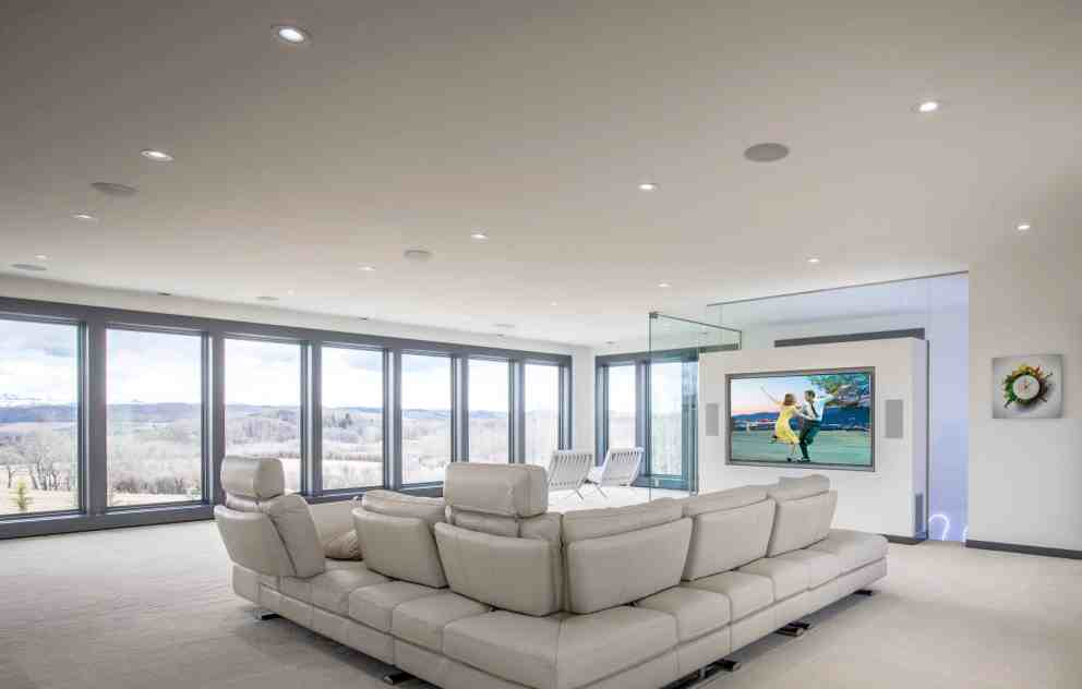 Smart Homes Pro » SpeakerCraft large home theater windows speakers