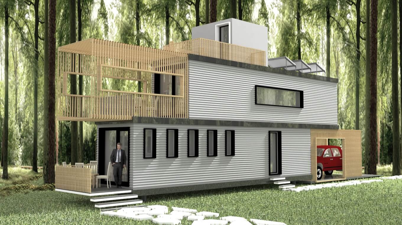 Best Kitchen Gallery: Two Container Homes Smart Homes Usa of Solar Shipping Container Home on rachelxblog.com