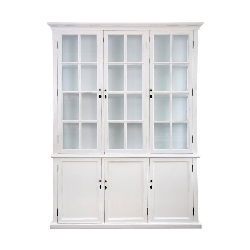 Toulouse Triple Display Cabinetwhite  Equator Homewares