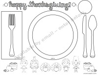 Table Setting Placemat Template & Marvellous Table Setting