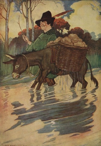 THE ASS AND THE LOAD OF SALT – Aesop Fables for Kids