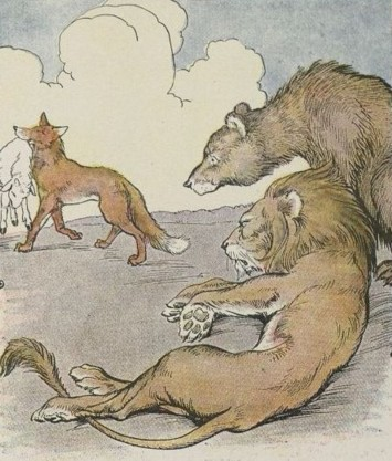 THE LION, THE BEAR, AND THE FOX – Aesop Fables for Kids