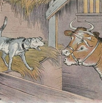 THE DOG IN THE MANGER – Aesop Fables for Kids