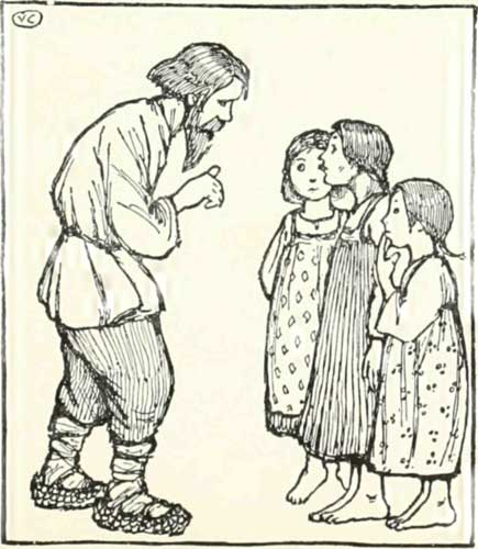 THE BEAR AND THE OLD MAN'S DAUGHTERS – Russian Fairy Tales – Pictures