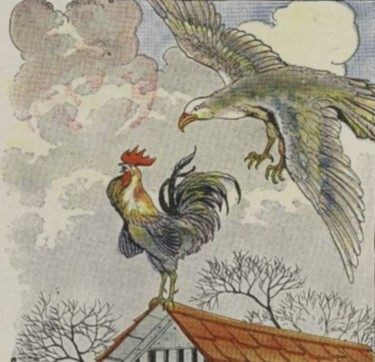 THE FIGHTING COCKS AND THE EAGLE - Aesop Fables for Kids