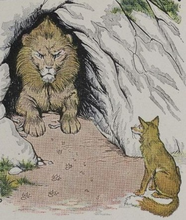 THE OLD LION AND THE FOX - Aesop Fables for Kids