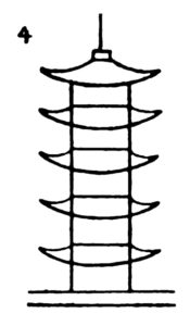 Step by step drawing for kids - How to draw Pagoda - 4