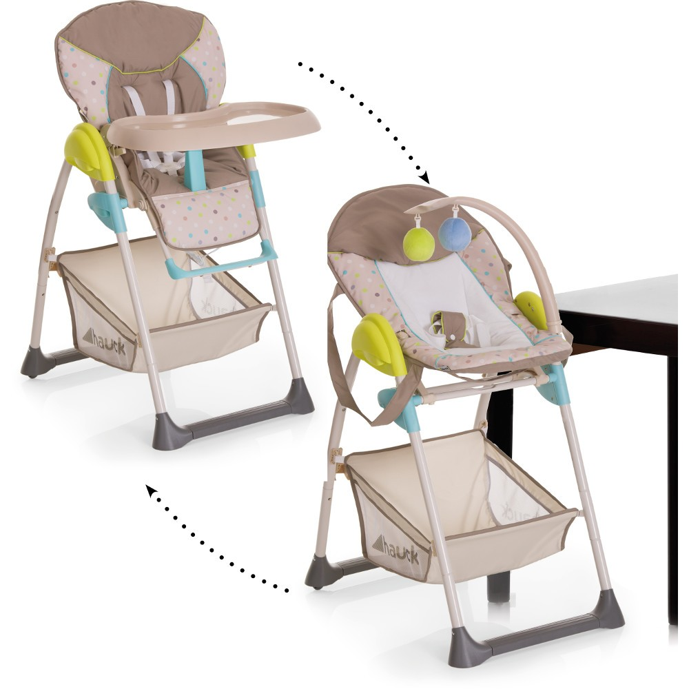 Hauck High Chair Hauck Sit N Relax Highchair Multi Dots Sand