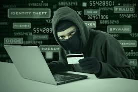 hacker hacking a credit card details online