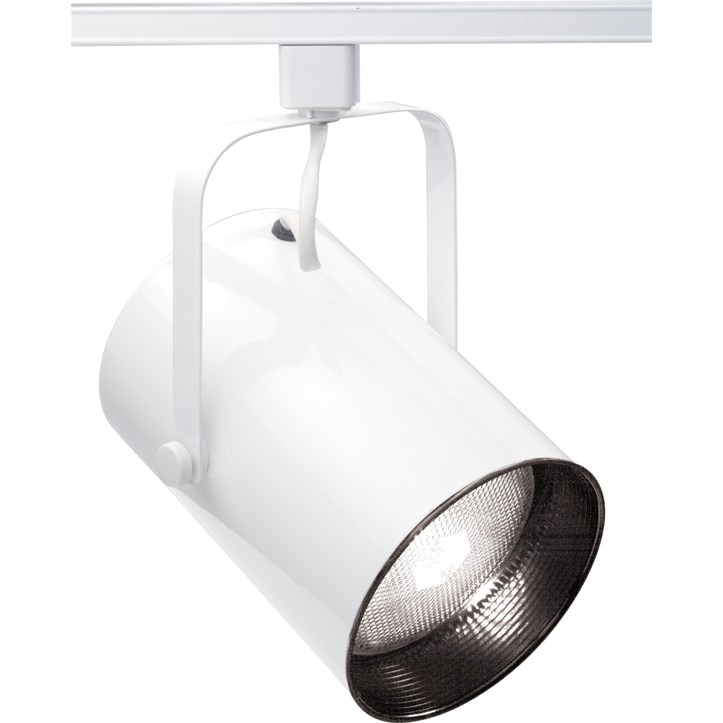 satco nuvo 150w max straight cylinder track lighting white finish smart led
