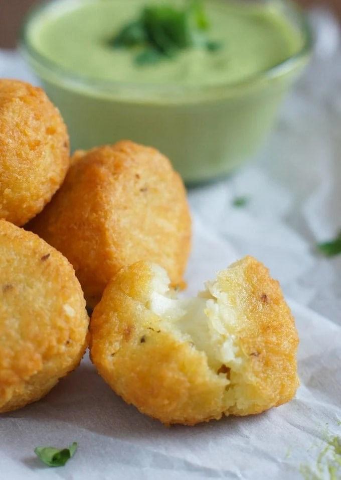 Yuca Balls Stuffed with Cheese   SmartLittleCookie.net