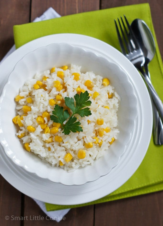 Rice with Corn - Arroz con Maiz | smartlittlecookie.net
