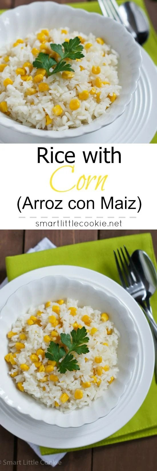 Rice with Corn (Arroz con Maiz) | smartlittlecookie.net