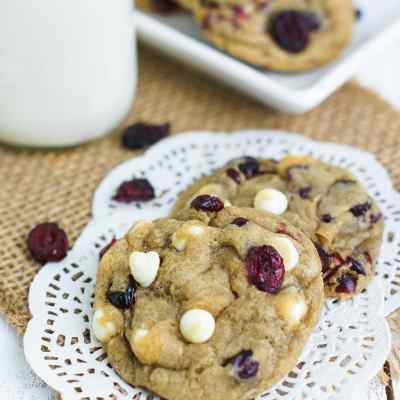Soft Cranberry White Chocolate Chip Cookies