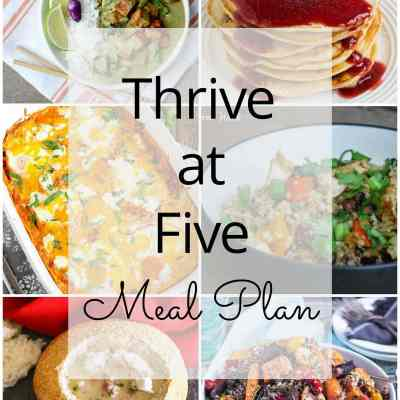 Thrive at Five Meal Plan – Week #26