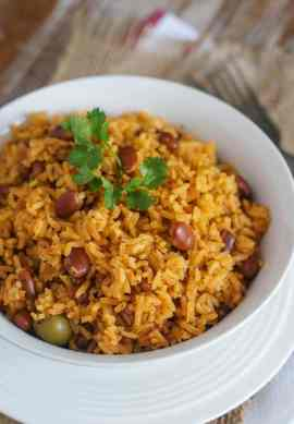 Rice with Beans (Moro de Habichuelas) ~ One of the most common dishes in the Dominican Republic, Moro is a mixture of rice, beans and vegetables.