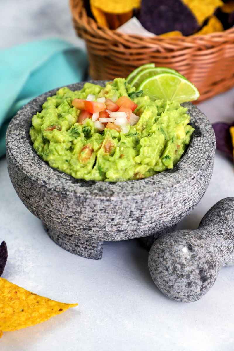 The Best Guacamole recipe with corn chips.