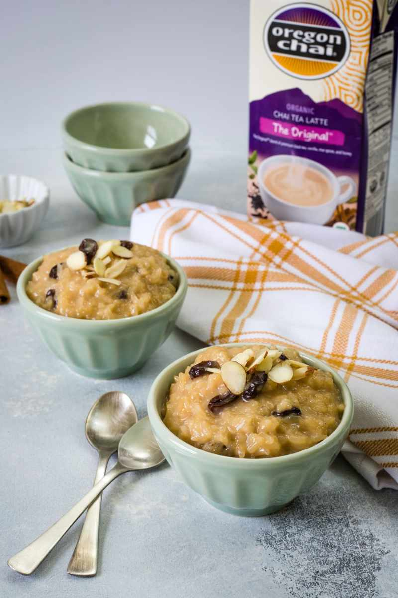 Chai Rice Pudding infused with chai tea latte concentrate - SmartLittleCookie.net