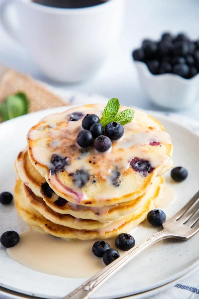 Blueberry Pancakes on a plate
