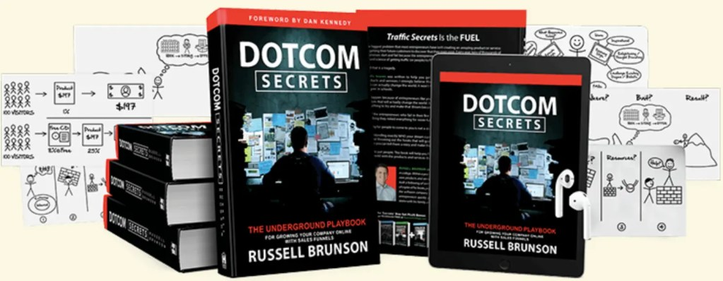 The NEW DotCom Secrets Book By Russell Brunson Shows How To Grow Your Company Online With Sales Funnels