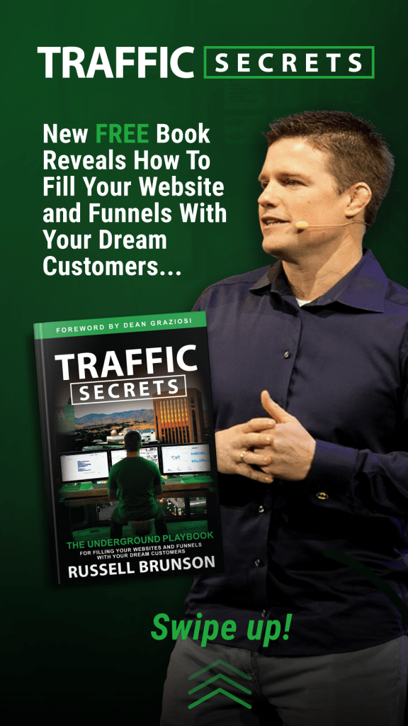 Best Traffic Secrets Bonus Package Available Today When You Buy Russell Brunson's Traffic Secrets Book Through My Link