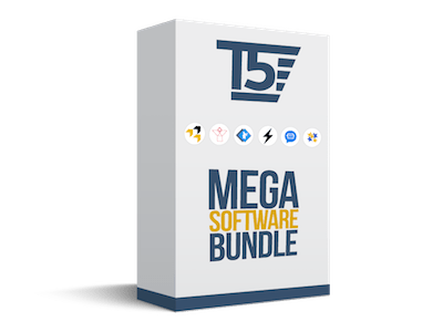 T5 Mega Software Bundle of Robo Contact, Text In Bulk, Domain Leads, Magic Zap, Link Wizard, Invoicing You & Sticky Reviews