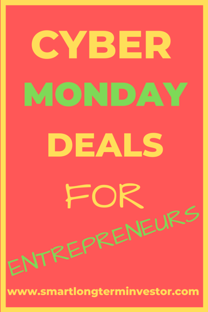 Cyber Monday deals & sales for entrepreneurs including software and courses
