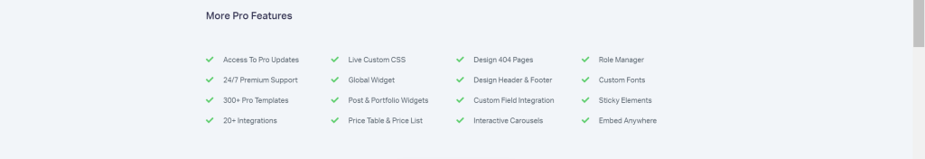 Elementor Pro WordPress Page Builder has Theme Builder to use on all WordPress themes, features for Email Marketing, Ecommerce and Lead Generation