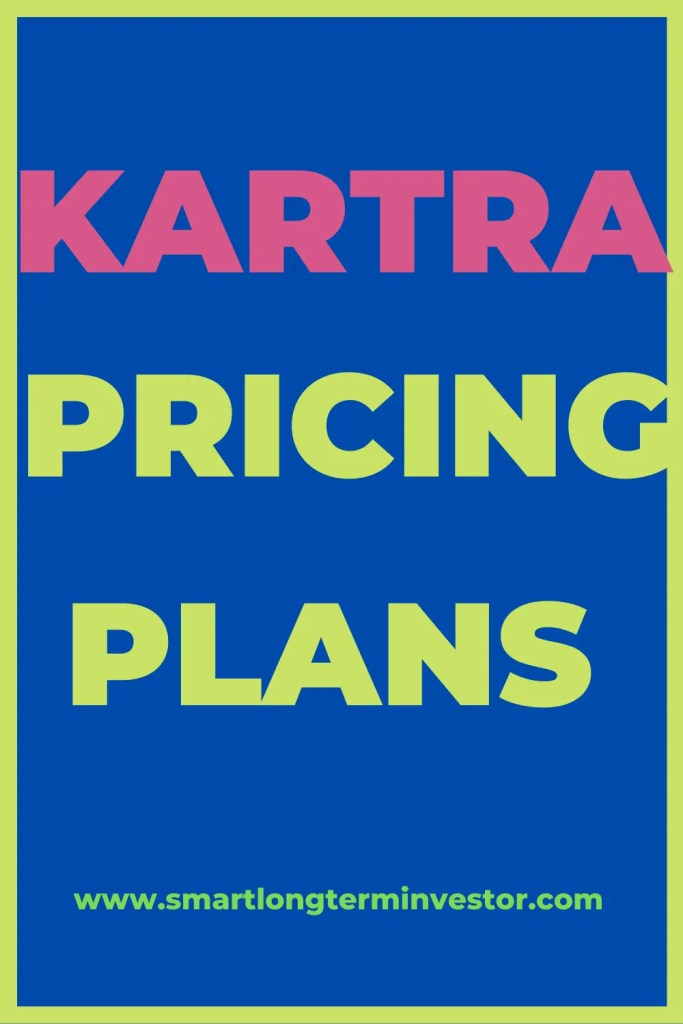 Kartra has Starter, Silver, Gold and Platinum pricing plans depending on the number of contacts, email sends, bandwith and marketing assets.