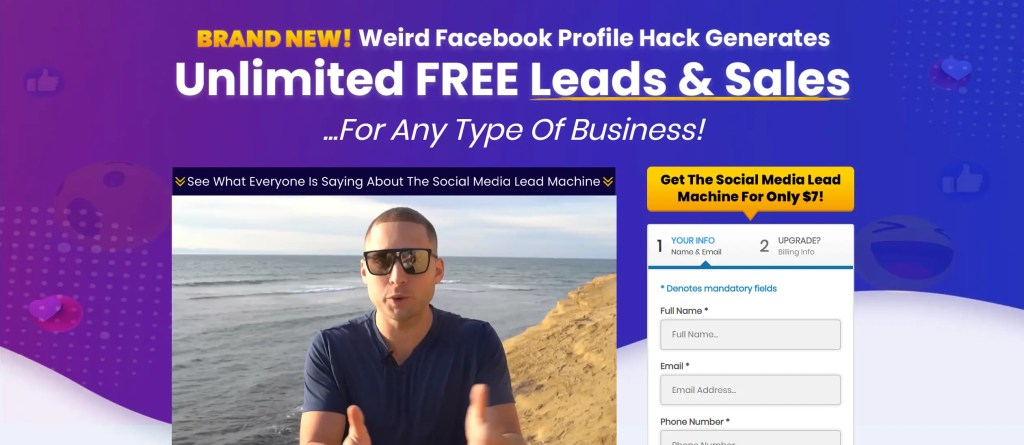 Social Media Lead Machine is a program developed by Blake Nubar that lets you generate free leads and sales from social media by transforming your Facebook profile into a lead machine