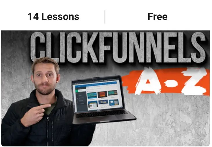 ClickFunnels A-Z Course is a free Spencer Mecham Buildapreneur course for beginners on how to use ClickFunnels to build sales funnels and other types of funnels