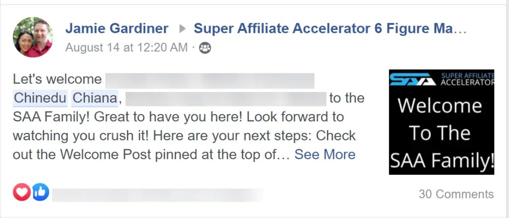 Super Affiliate Accelerator is an exclusive training program created by Jacob Caris that focuses on teaching you how to make high ticket affiliate sales using Facebook.
