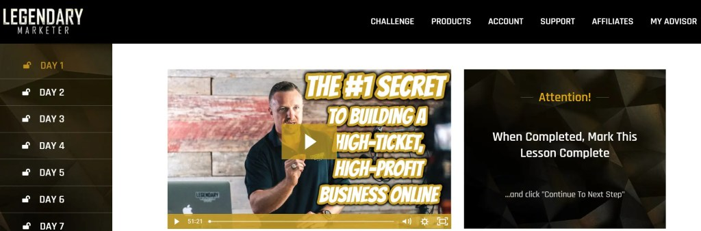 The 15-day Online Business Builder Challenge is a Legendary Marketer program of video lessons to launch and grow an online business in 15 days