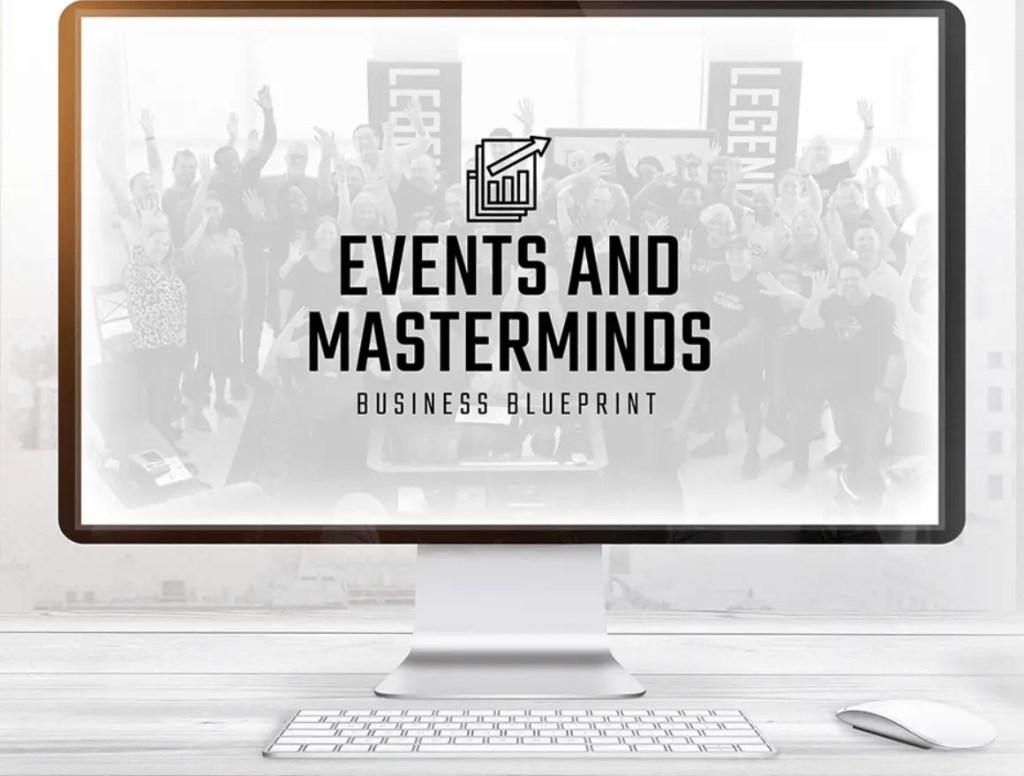 The Legendary Events and Masterminds Business Blueprint is a complete training for anyone looking to set a mastermind and events business online or offline