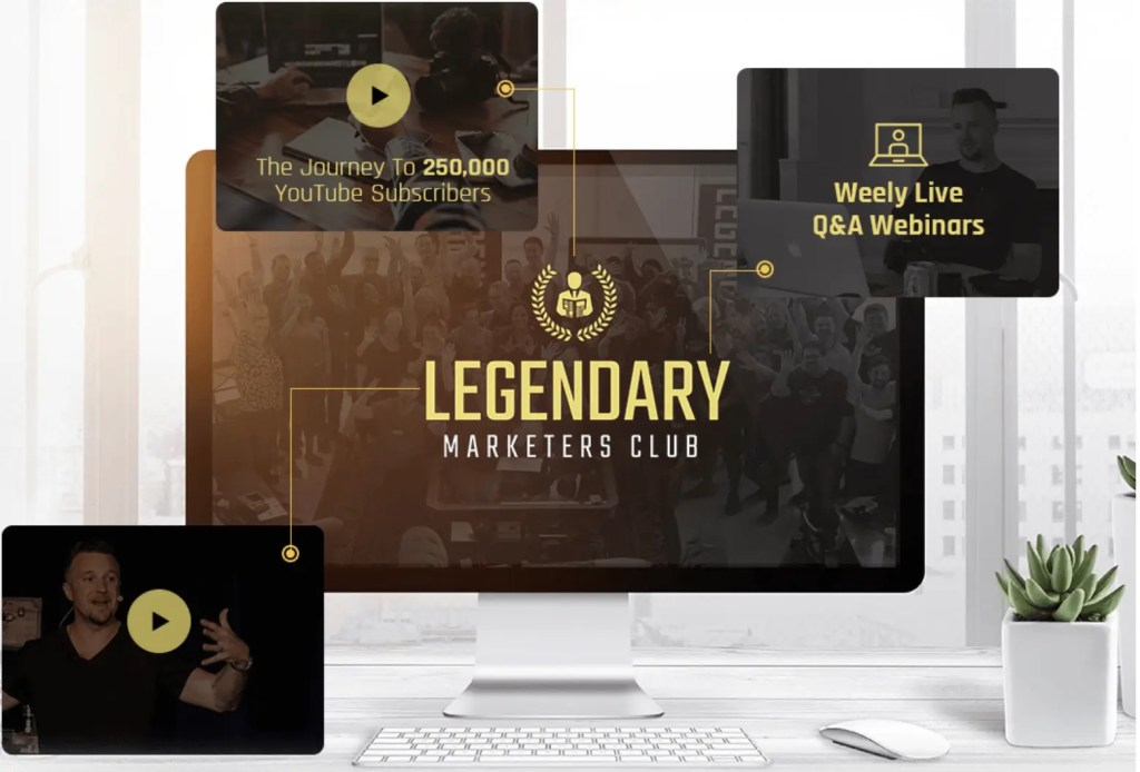 The Legendary Marketers Club is a subscription based training on starting an online business with weekly live coaching webinars, training from entrepreneurs and access to training replays