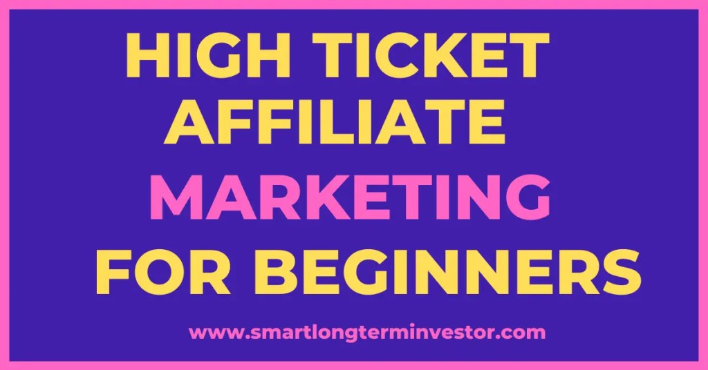 High ticket affiliate marketing is a digital marketing business model that can pay affiliates commissions of over $1000 for each product sale made through their unique affiliate links