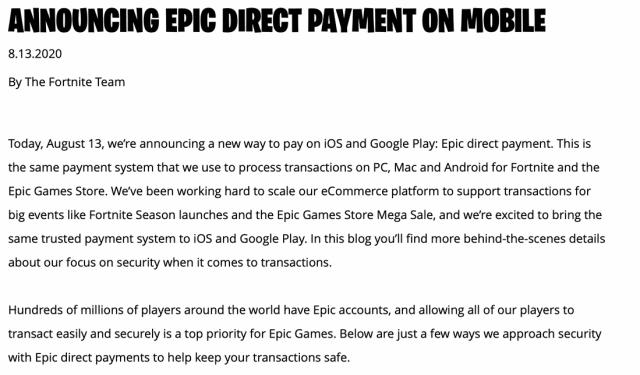 Fortnite изгонени от App Store и Google Play