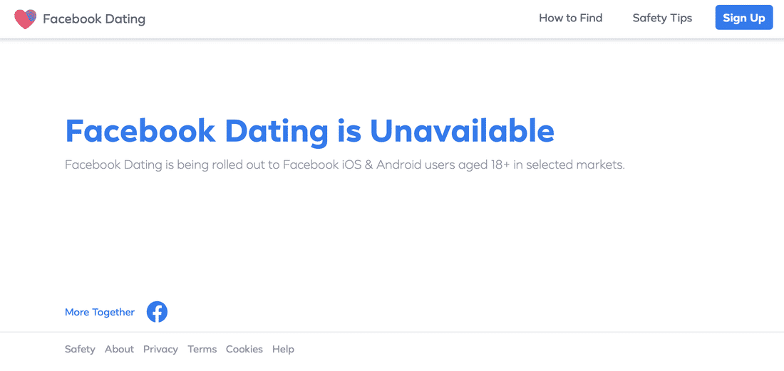 Facebook Dating все още не е налично месеци след плануваната премиера