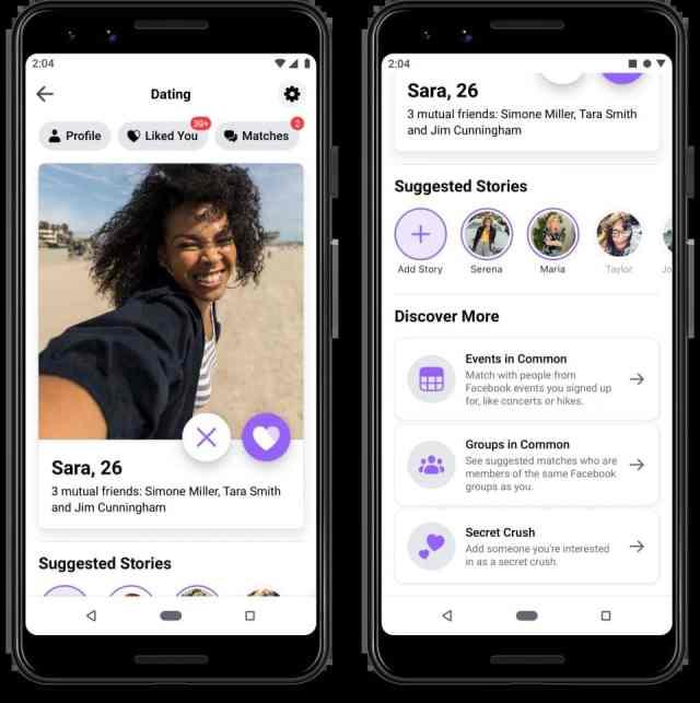 Facebook Dating предложения