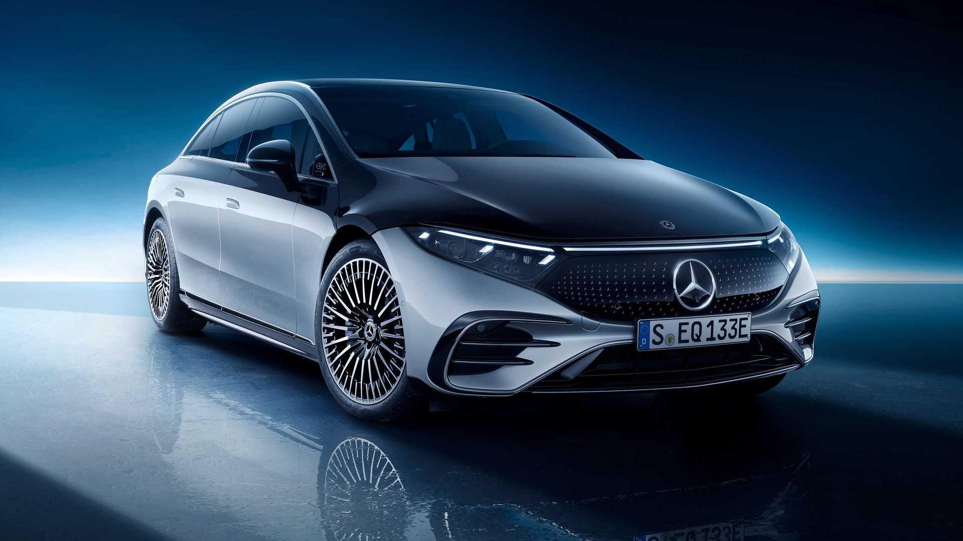 Първи поглед над новия електрически седан на Mercedes-Benz 2022 EQS