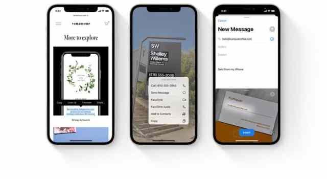 Apple Live Text. Изкуствен интелект ще чете текст от снимките ни.